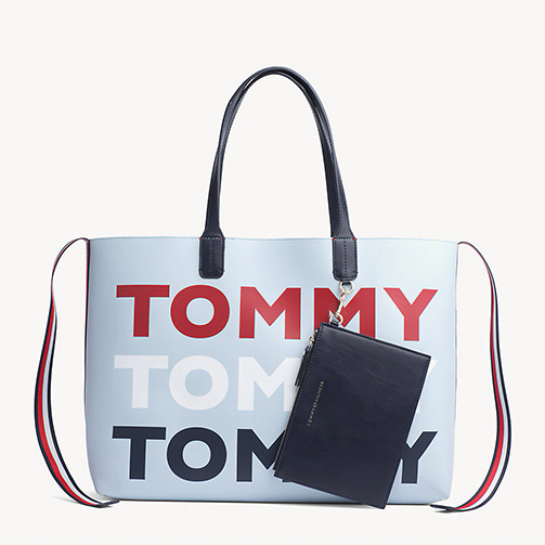 CARTERA TOTE ICONIC TOMMY TOMMY PRINT