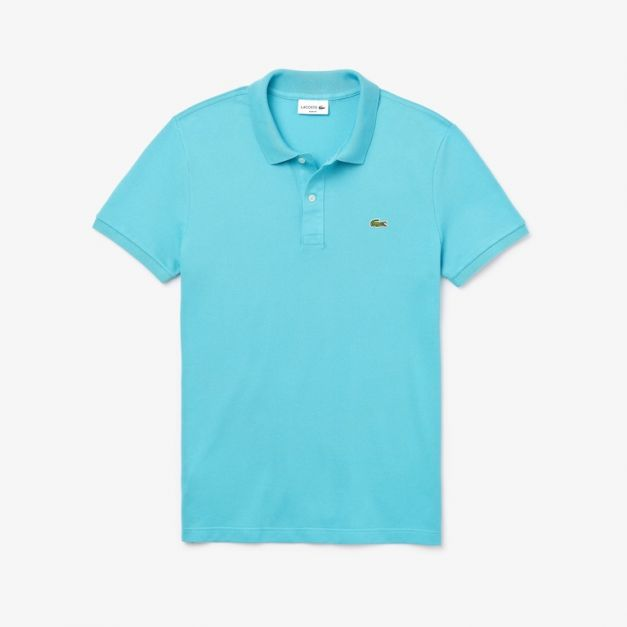 LACOSTE PIQUÉ REGULAR FIT AQUA