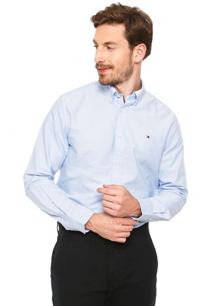 CAMISA TOMMY HILFIGER M/L NEW ENGLAND SOLID OXFORD
