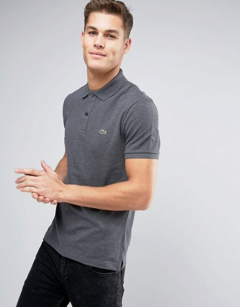 LACOSTE REGULAR FIT DARK GRAY