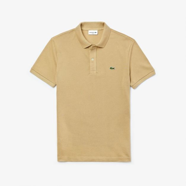 LACOSTE PIQUÉ POLO SHIRT REGULAR FIT BEIGE