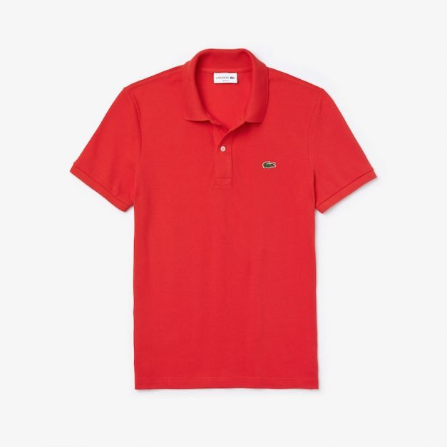 LACOSTE PIQUÉ POLO SHIRT REGULAR FIT RED MARS