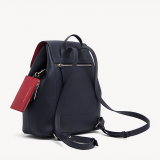 MOCHILA CON CORDÓN Y MONOGRAMA TH TOMMY NAVY - TOMMY RED