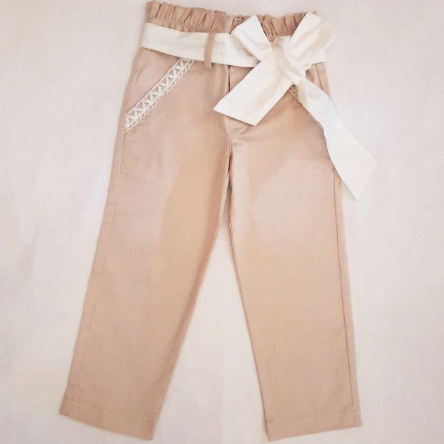 Pantalón Francheska Nude c/Perla