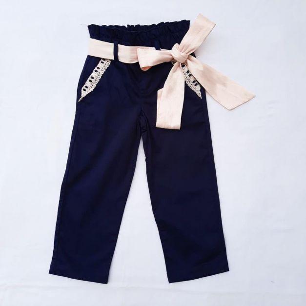Pantalón Mónaco Azul c/Nude