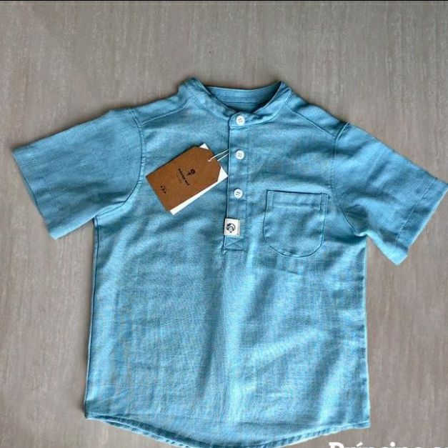 Camisa Manga Corta Lino