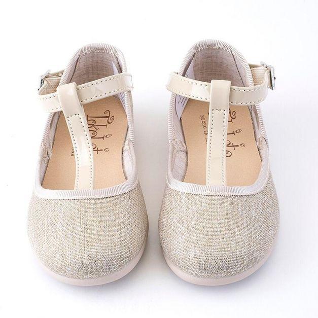 1163-47 Zapatos con Ribete Oro