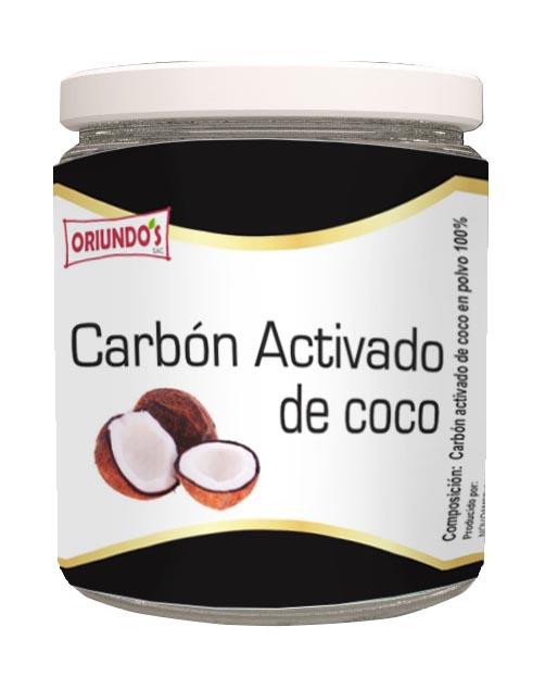 CARBÓN ACTIVADO DE COCO ORIUNDOS 80GR