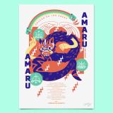 AMARU - Grabado Glicée - Edición Limitada