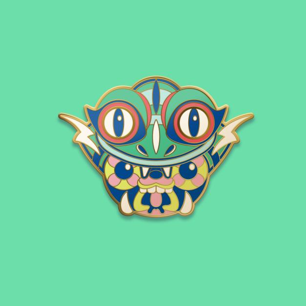 Pin Green Uku - Super Jumping Sentai