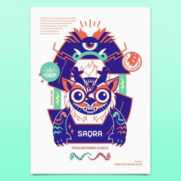 Saqra - Grabado Glicée - Edición Limitada