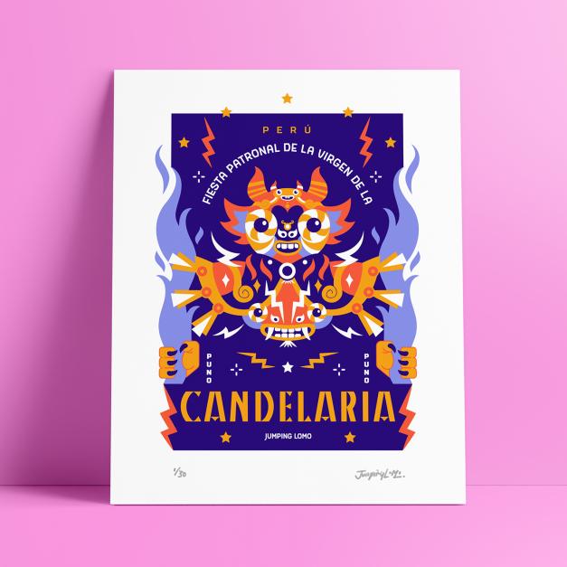 CANDELARIA - Grabado Gicleé