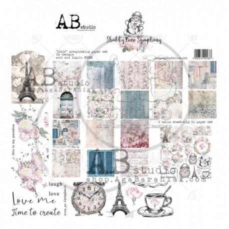 AB - Colección Shabby love - Kit 30x30