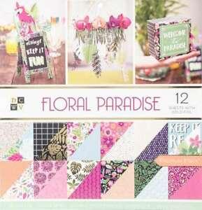 DCWV - Block Floral paradise 30x30