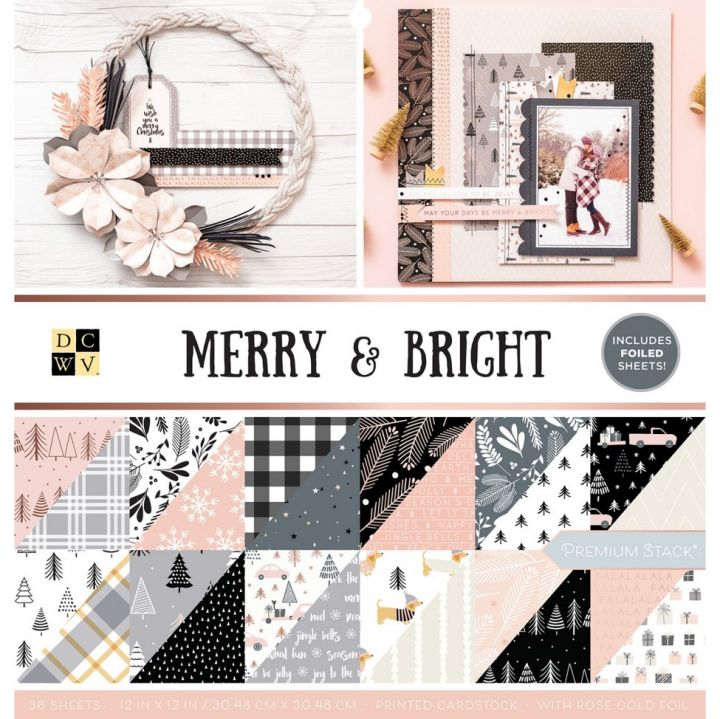 DCWV - Block 30x30 Merry and bright