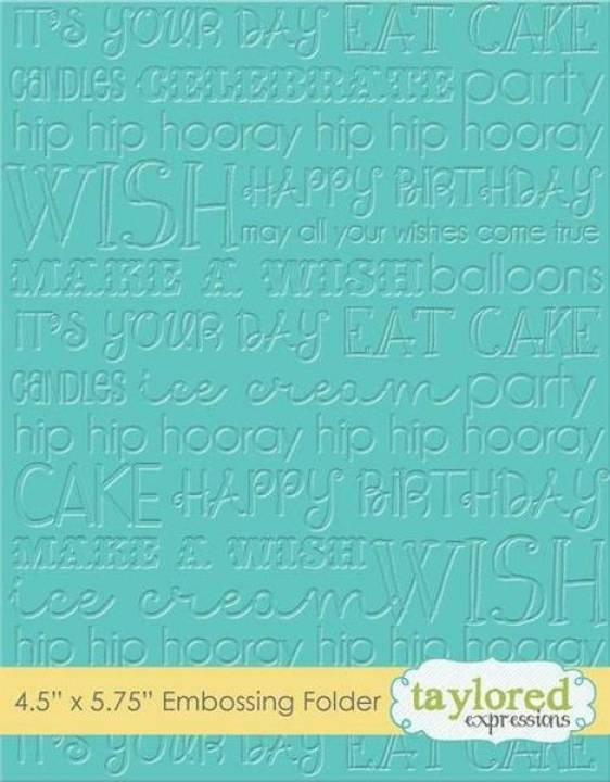 TE - Folder de embossing cumpleaños