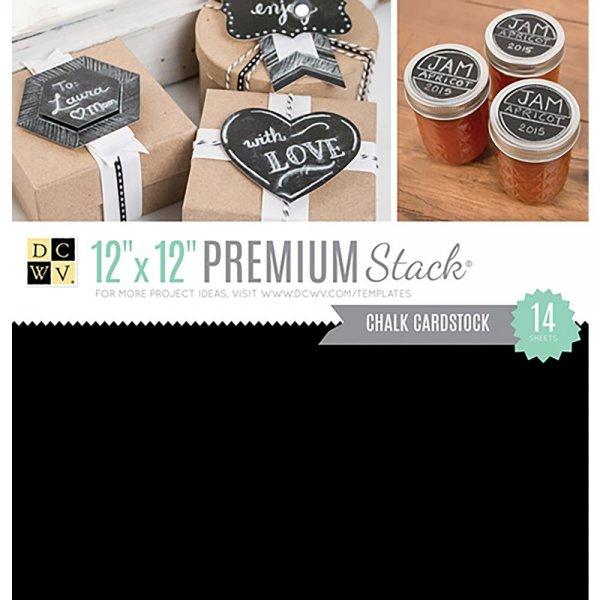 DCWV - Block Chalk Black 30x30