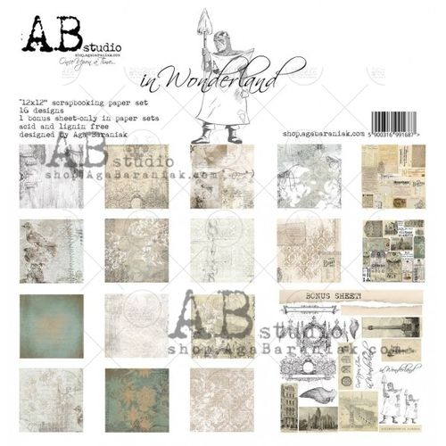 AB - Colección In Wonderland - Kit 30x30 + sello