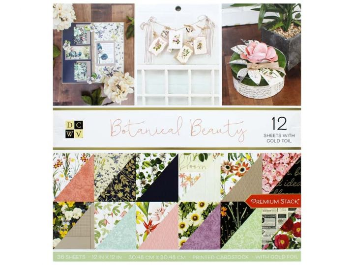 DCWV - Block Botanical Beauty 30x30