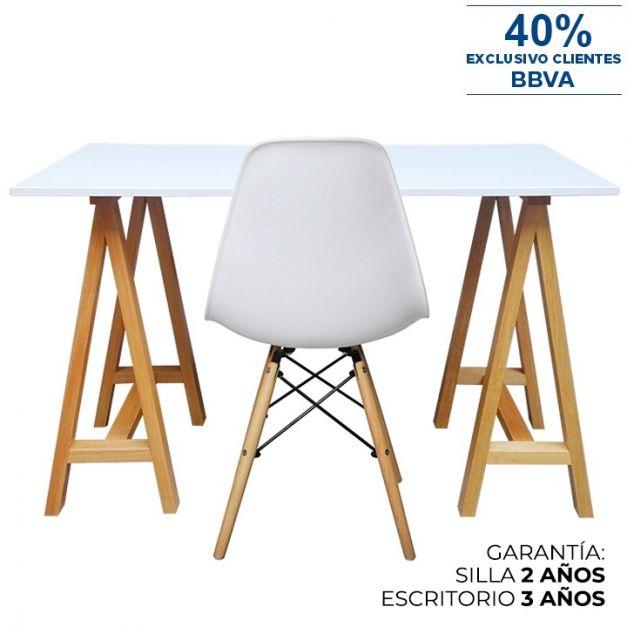 1 Escritorio Arti 120x60x75 + 1 Silla Tania W Blanca