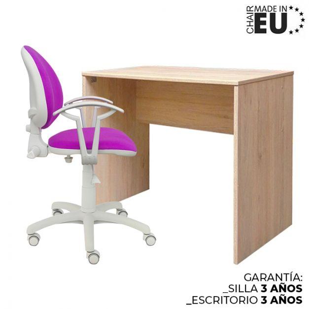 1 Escritorio Melamine 120x60x74 + 1 Silla Smart Lux Micro