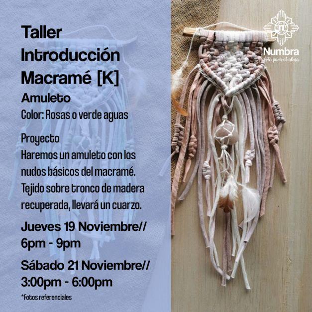 19/11// Taller Introducción al Macramé (K)
