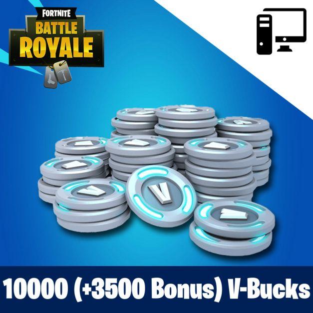 Fortnite 10000 (+3500 Bonus) PAVOS - RECARGA