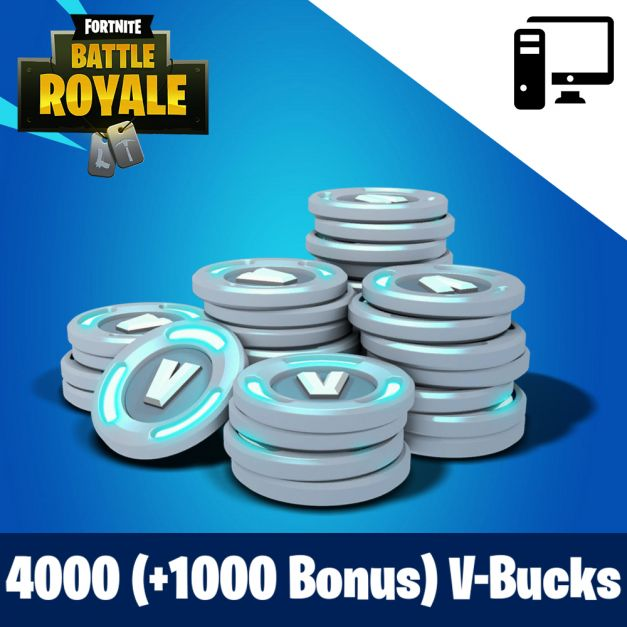Fortnite 4000 (+1000 Bonus) PAVOS - RECARGA