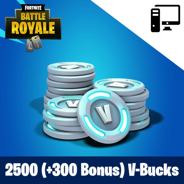 Fortnite 2500 (+300 Bonus) PAVOS - RECARGA