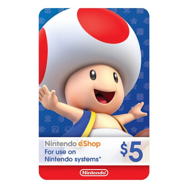 Nintendo eShop 5$ - CODIGO DE ACTIVACION