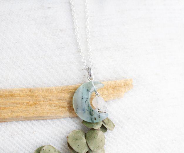 Collar Ciclo Lunar - Ópalo Andino - Piedra Luna