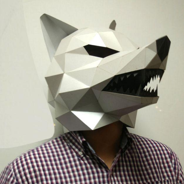 Máscara Lobo Plata