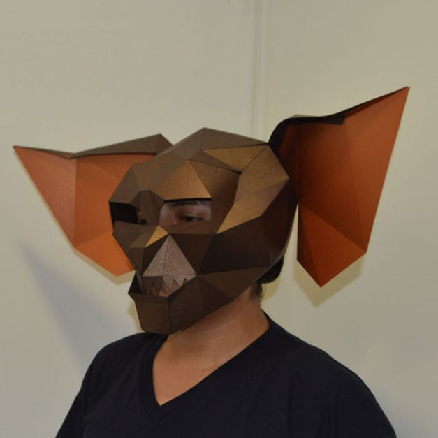 Máscara Gromlin Marrón