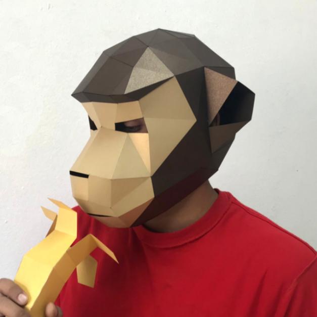 Máscara Mandrilus Marrón