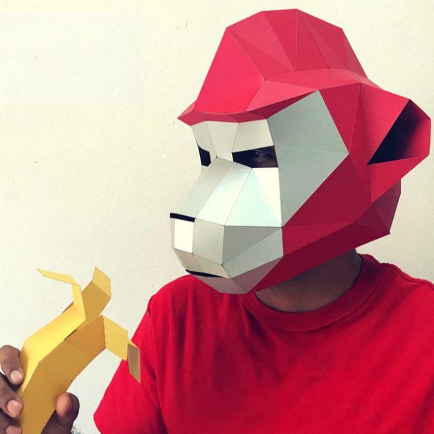 Máscara Mandrilus Rojo