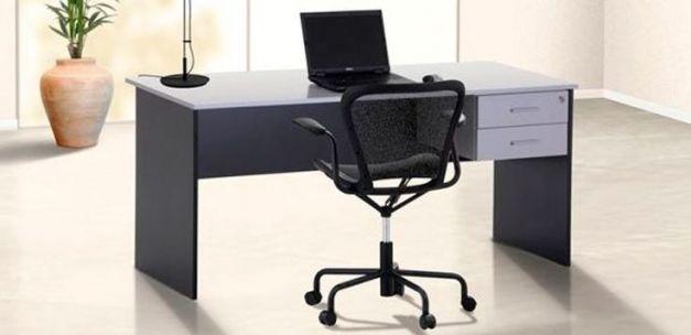 ESCRITORIO CON SECCIONES OFFICE SMART - NEGRO / BLANCO