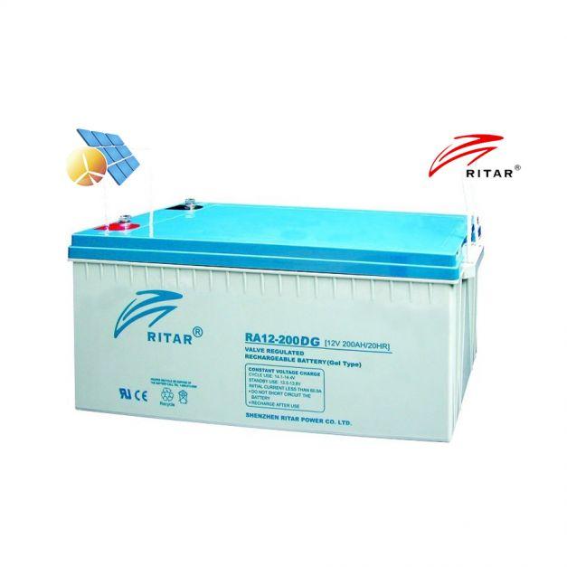 Batería Ritar 12v 200Ah RA GEL Libre Mantenimiento