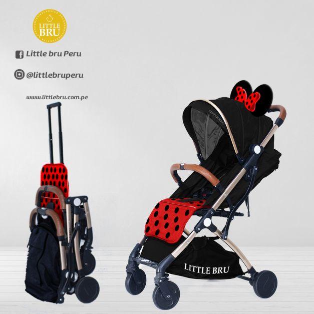 PREVENTA: Coche para bebé  Little Bru Modelo AVIÓN Ratón Rojo