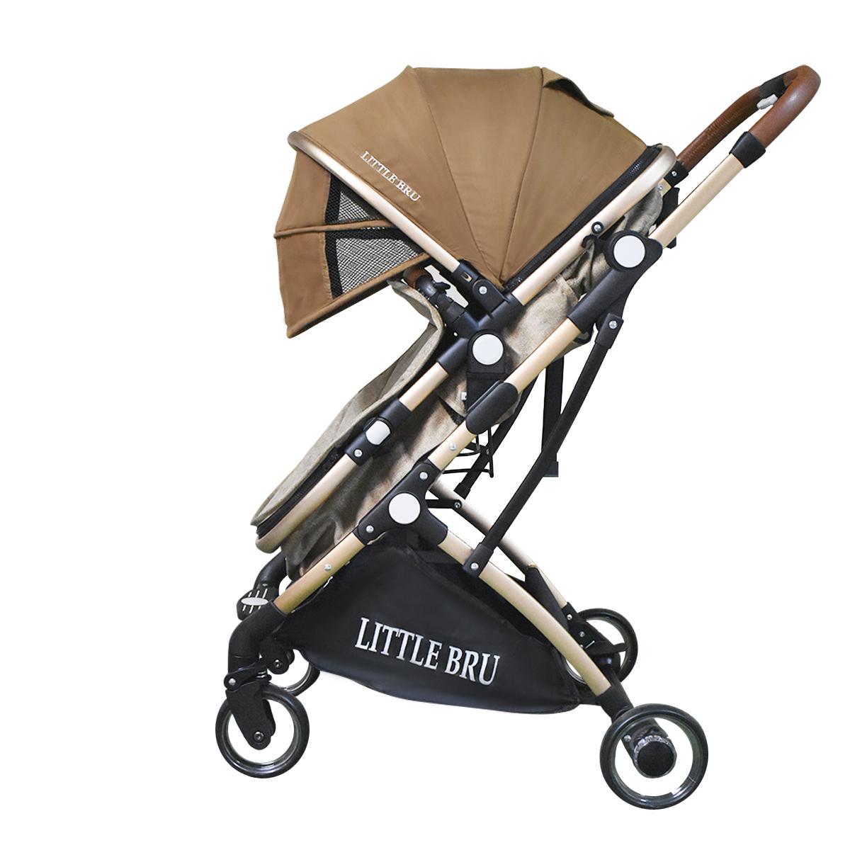 Coche para bebé Modelo Milán Marron con Beige