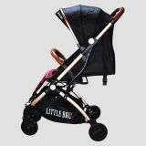 Coche para bebé Little Bru Modelo Skyline (Negro con Rojo) Little Bru
