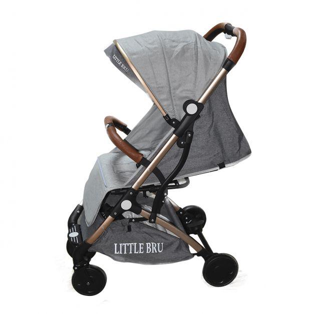 Coche para bebé  Little Bru Modelo AVIÓN Gris