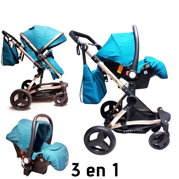 Coche para bebé  Zaragoza 3 en 1 color Verde turquesa