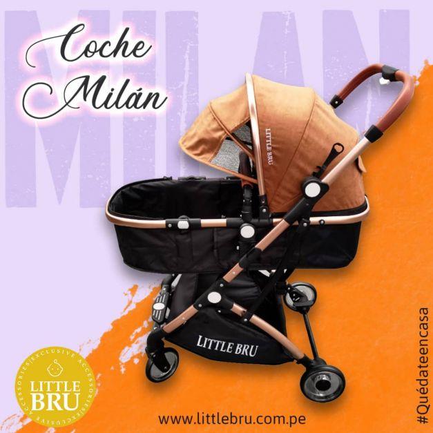 Preventa: Coche para bebé  Milán Marró/Negro