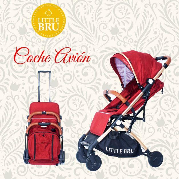 PREVENTA: Coche para bebé  Little Bru Modelo AVIÓN Rojo