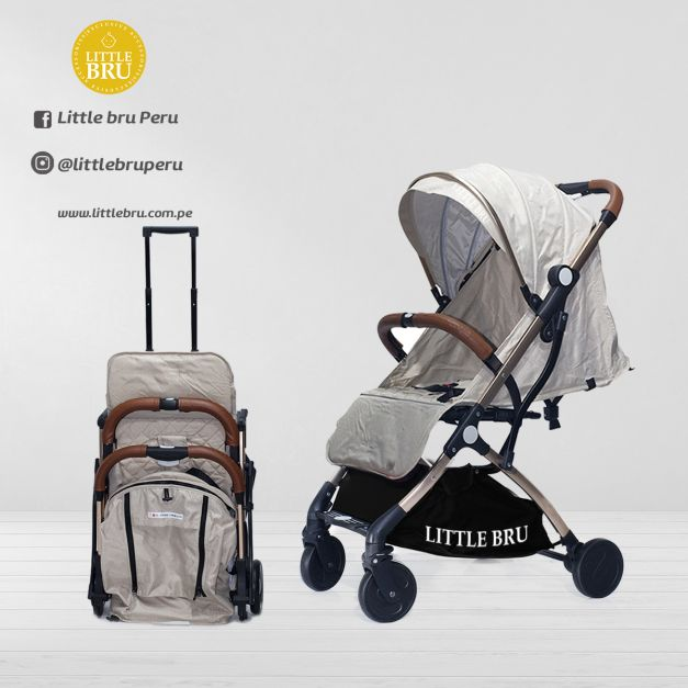 PREVENTA: Coche para bebé  Little Bru Modelo AVIÓN Beige