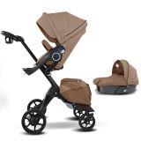 Coche para bebé Premium de bebé DSLand Xplory V8 Marrón