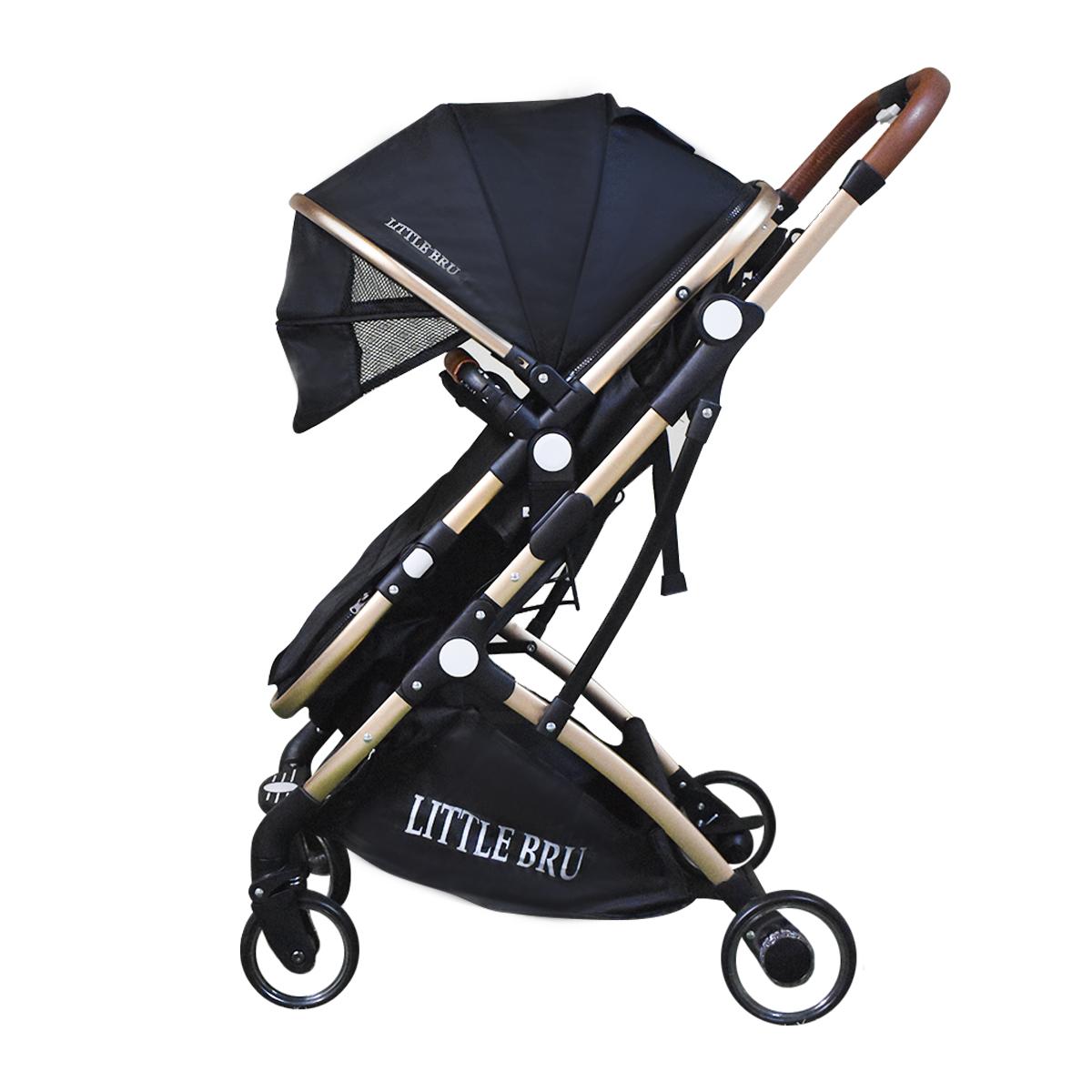 Coche para bebé Modelo Milán Negro Little Bru