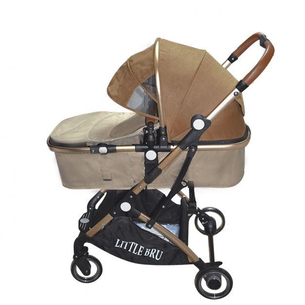 Coche para bebé Milán Marron con Beige