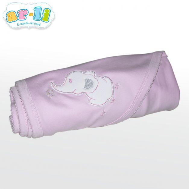 Manta para bebé Elefantito (Rosada)
