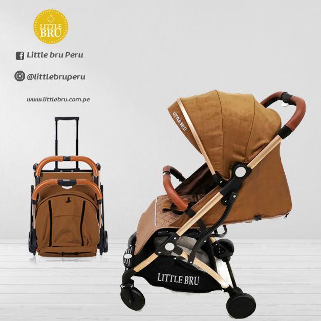 PREVENTA: Coche para bebé  Little Bru Modelo AVIÓN Marrón